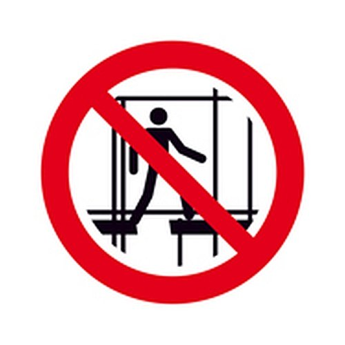 Bord gebruik van de onvolledige steiger verboden verbods Ø 20,0cm PVC