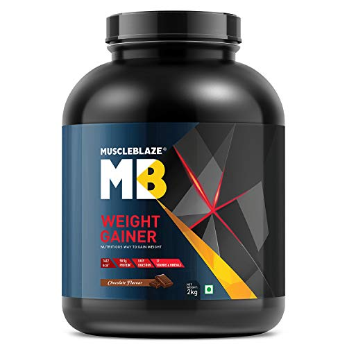 MuscleBlaze Weight Gainer with Added Digezyme (Chocolate, 2 kg / 4.4 lb, 20 Servings)