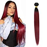 Volvetwig Tissage Ombre Hair Lisse Straight Weave Meche Bresilienne Hair Naturel 1B 99J Hair 1 Bundle Cheveux Humains Extensions 18 inches