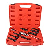 Qiilu Kit de Extractor de cojinete Interior, 9 unids/Set 8-32mm Juego de Extractor de cojinete Interior de Agujero Ciego Juego de Herramientas internas de Martillo Deslizante