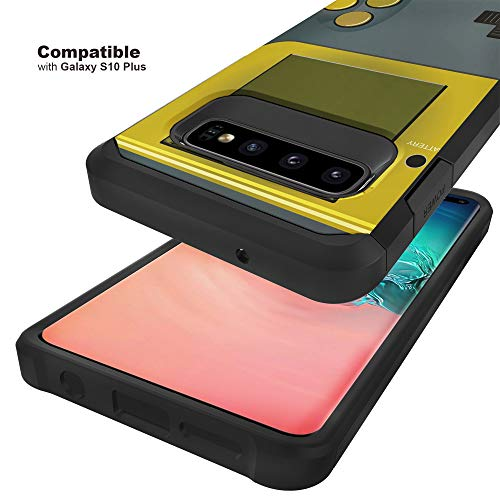 TurtleArmor   Compatible with Samsung Galaxy S10+ Case   S10 Plus Case   G975   Slim Hybrid Hard Shell TPU Dual Layer Case - Gray Gameboy