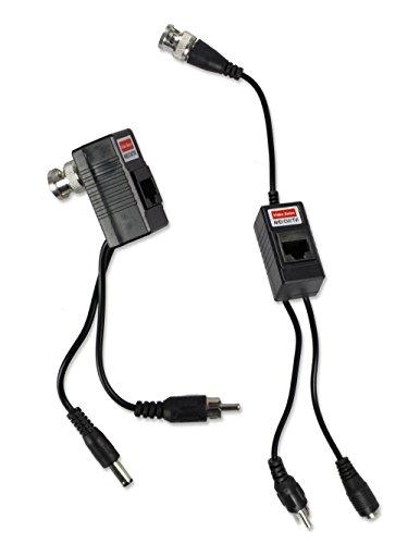 Vetrineinrete Video balun power bnc coppia di amplificatori alimentazione rg45 trasmettitore telecamera videosorveglianza video camera alimentazione cavo Lan C41