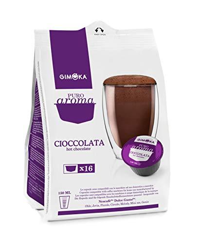 Gimoka - Capsule Compatibili Nescafè Dolce Gusto, Gusto Cioccolata - 64 Capsule