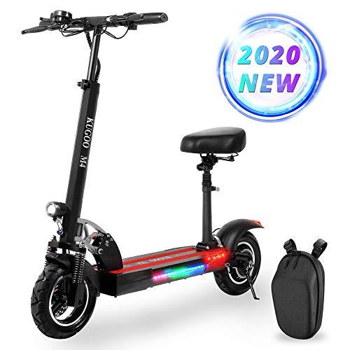 Elektrische Scooter voor volwassenen en vouwen E-scooters met 500W Motor, LCD Display 3 Speed Modes, Maximale belasting 150kg, Snelheid tot 45km/h, 10 Inch Pneumatische Band, Dubbele Rem, Front LED Licht & Waarschuwing Achterlicht