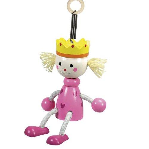 Suspension à ressort personnage en bois princesse - jouet + 3 ans - decoration pour chambre fille
