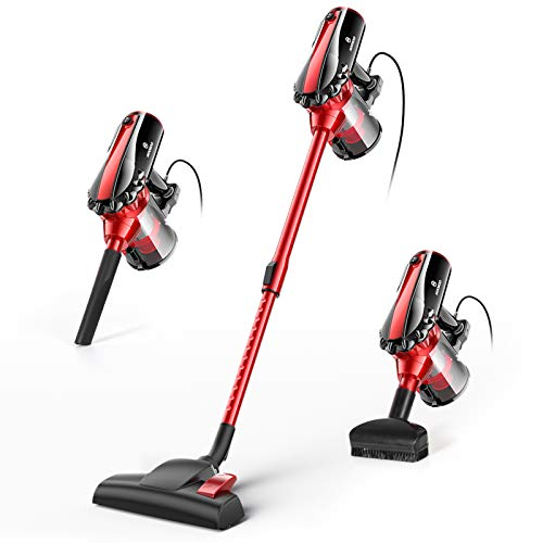 MooSoo Vacuum Cleaner, 17000Pa Lightweight Stick Corded Vacuum with High...