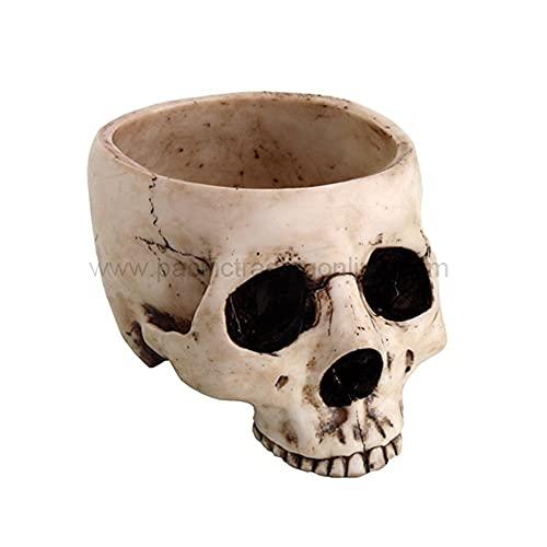 Skeleton Skull Bowl, Beige
