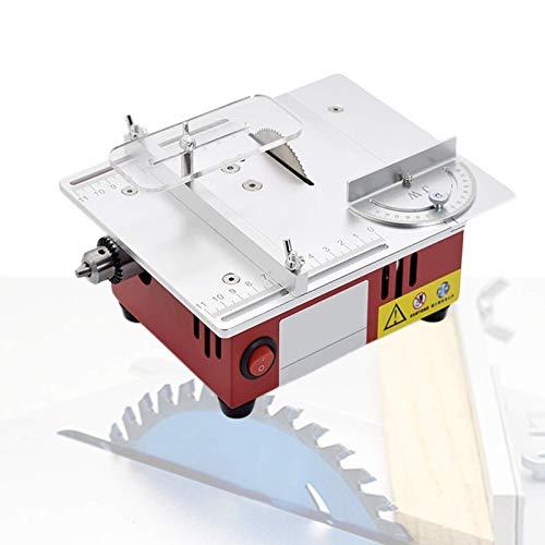Sierra de mesa elevable, mini sierra de mesa eléctrica de 96 W con mandril de precisión y tubo de vacío, velocidad variable 3000-9200 Rpm, rango de sujeción 0.3-6.5Mm / 0.01-0.26 'para manualidades d