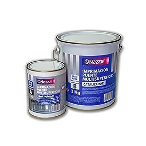 Imprimación Epoxi Bicomponente al Agua | Capa de protección en pinturas plásticas y revestimientos epoxi | 1Kg. + 3Kg.