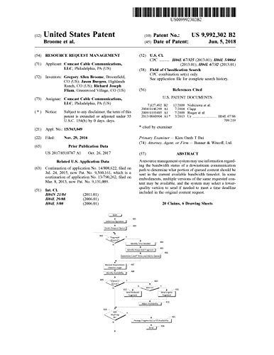 Resource request management: United States Patent 9992302 (English Edition)