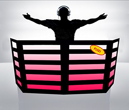 Great Price! DJ Facade / DJ Booth - Dragon Frontboards: Qwest 4 Panel-PLEXI / Black Frame