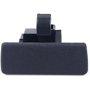 beler Black Car Inner Storage Glove Box Compartment Cover Lid Lock Handle