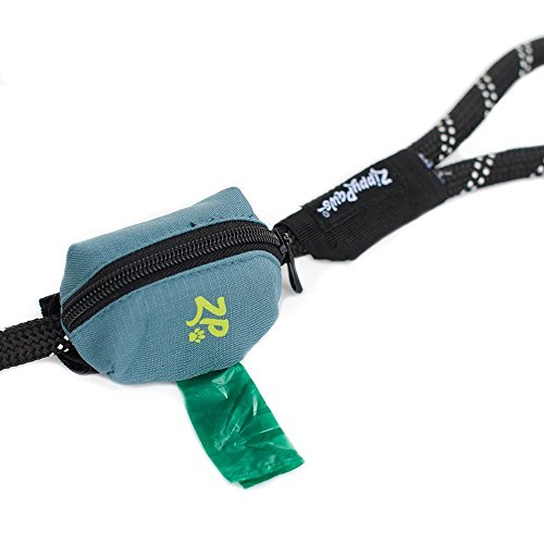 ZippyPaws - Adventure Leash Bag, Dog Poop Bag Holder Leash Attachment - Forest Green