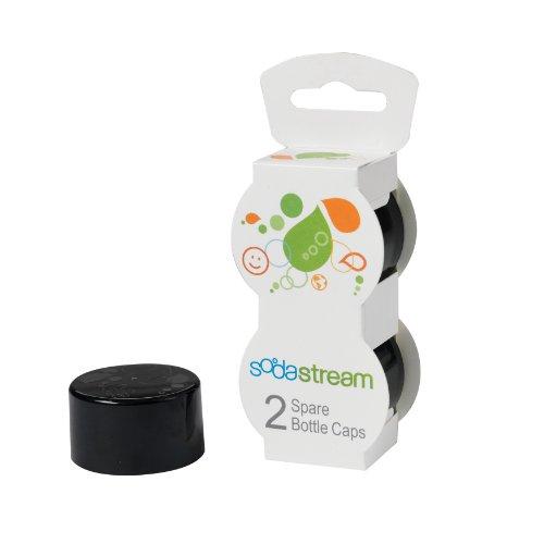 SodaStream Bottle Caps, Black, 2-Pack