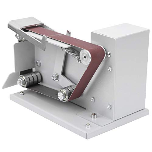 Mini Electric Belt Sander 775 Host Mminiature Polishing Grinding Machine 96W for DIY Polishing Grinding Cutting Edge Sharpener (UK-Plug 110-240V)