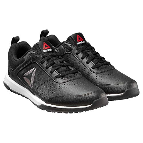 Reebok Mens CXT Athletic Shoes Leather Training Sport Sneaker (Black, 10 M US)