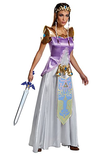 Disguise Women's Legend Deluxe Zelda Adult Costume, Multi, Teen/Juniors