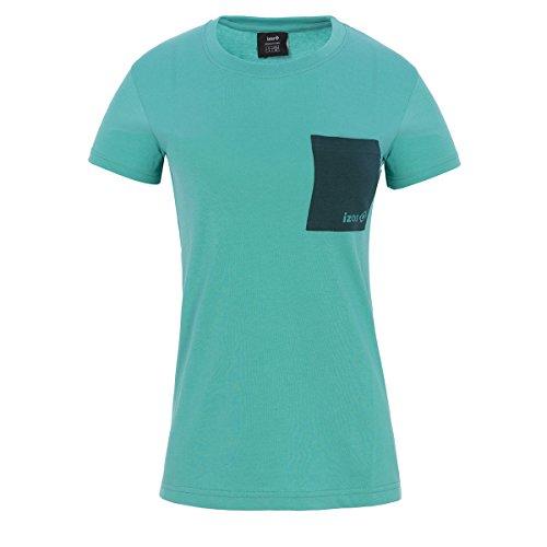IZAS Dakota T-Shirt en Coton Femme Céramique/Dark Aqua FR: L (Taille Fabricant: L)
