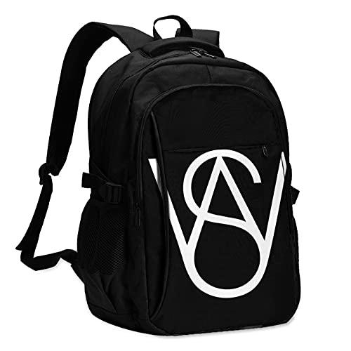 EDGHUOEIH Steven Wilson - Mochila de viaje para exteriores, resistente al agua, mochila de viaje con puerto de carga USB/auriculares