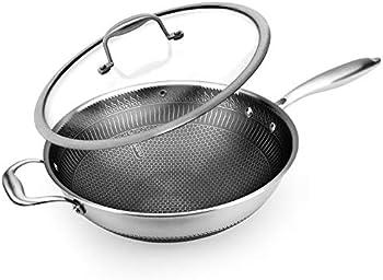 Nutrichef 12 Inch Triply Kitchenware Durable Wok