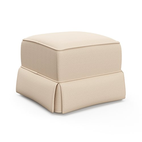 Storkcraft Avalon Upholstered Ottoman, Desert Sand Cleanable Upholstered Comfort Rocking Nursery Ottoman