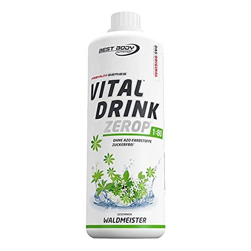 Best Body Nutrition Vital Drink ZEROP® - Waldmeister, Original Getränkekonzentrat Sirup zuckerfrei, 1:80 ergibt 80 Liter Fertiggetränk, 1000 ml