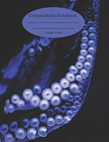 Composition Notebook: College Ruled Journal 110 Pages Purple Octopus Oceanography