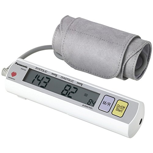 Panasonic EW3109W Portable Upper Arm Blood Pressure Monitor White/Grey