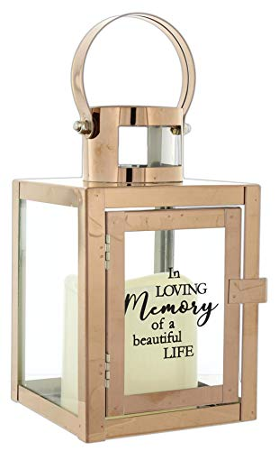 The Bridge Collection 'in Loving Memory of a Beautiful Life' Lantern with Flameless LED Candle