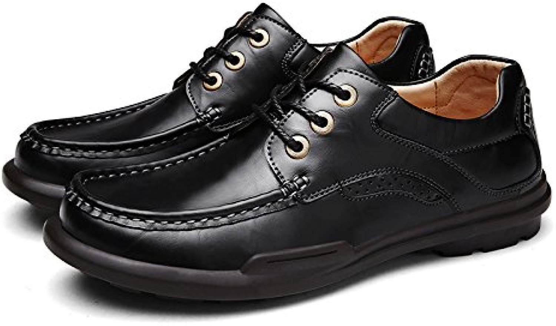 Gli uomini di moda casual sautope di cuoio moda sautope lace round moda sautope corrispondono tutti in inghilterra,nero,41