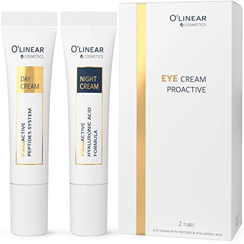41lHVe33aSL. SL500  - Eye Cream - Dark Circles Under Eye Treatment For Women - Anti Wrinkle Cream - Anti Aging - Reduce Eye Bags, Puffiness, Dark Circles - Crows Feet Eye Treatment - Night & Day Repair Cream - 2x15ml