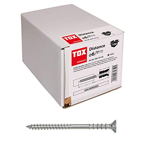 TOX Justierschraube Distance verzinkt, 6 x 60 mm, 100 Stück, 09010102