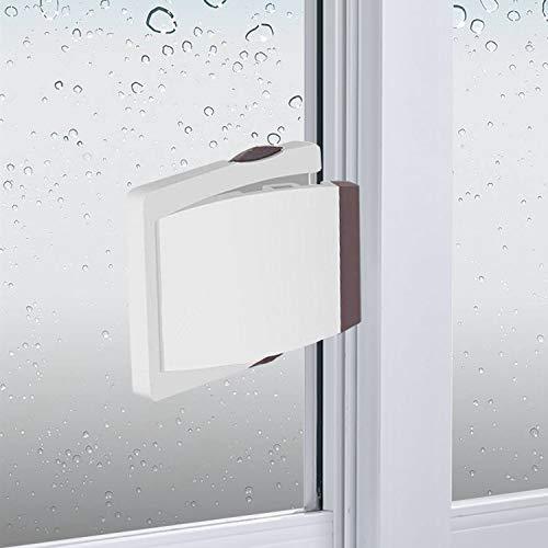 Sliding Glass Door Child Lock - OKEFAN 4 Pack Baby Safety Slide Window Locks for Kids Proof Patio Closet Doors No Drilling Tools Needed (Brown)