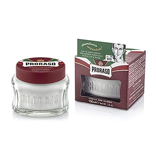Proraso Crema Pre Afeitado Sándalo Y Manteca De Karité Para Barbas Duras - 100 Ml. 300 g (400502)