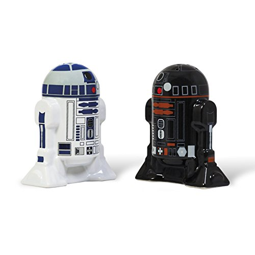 Star Wars Zout En Peper Shakers R2-D2, R2-Q5 Droid Set Wit Zwart Grinder