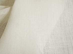 ハンドメイド用生地 150cm巾 リネン100% 無地 ホワイト 中厚手 R0491(旧品番 W-194)
