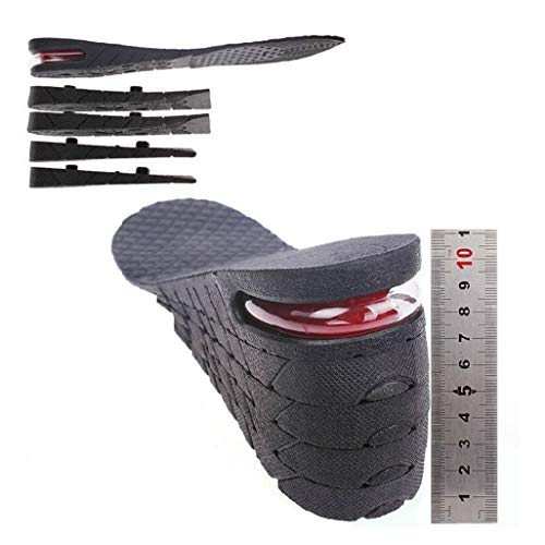Kalevel Unisex Height Increase Insoles 11cm 4.4 Inches Adjustable Insoles Breathable Insole Insoles Increased Insoles Shoe Lifts Increased Shoe Pad Elevator Insoles for Men Women (Black)
