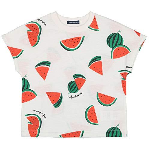 【子供服】 moujonjon (ムージョンジョン) 日本製スイカ・バナナ総柄半袖Tシャツ 80cm〜120cm M32861