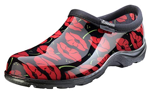 Sloggers Women's Waterproof  Rain and Garden Shoe with Comfort Insole, Poppy Red, Size 8, Style 5116POR08