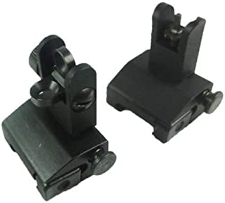 Green Blob Outdoors Iron Sight Set, Front and Rear, Folding/Flip up Spring Loaded