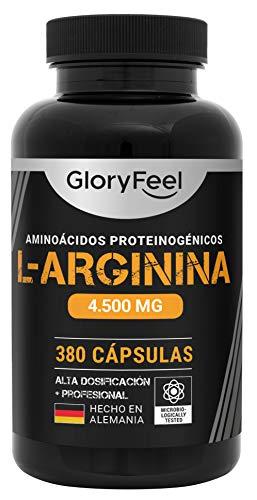 L Arginina Pura 4500mg - 380 Cápsulas - L-Arginina HCL Natural y Sin Aditivos -...