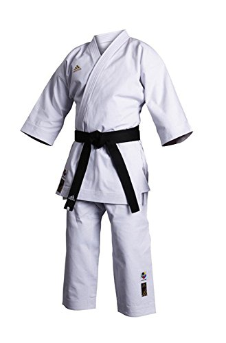 adidas K460E – Uniforme de Kárate, Unisex, Unisex Adulto, Color Blanco, tamaño 155