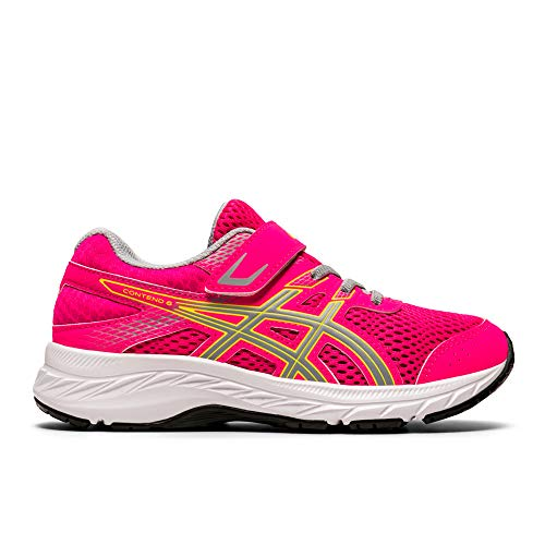 Asics Contend 6, Sneaker Unisex Adulto, Pink GLO/Piedmont Grey, 34.5 EU
