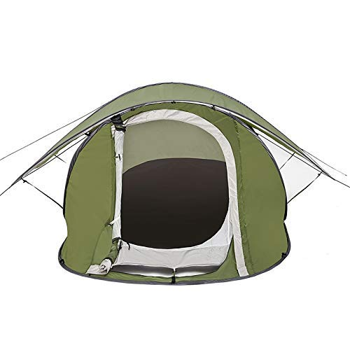 ZYL-YL Family Tent Outdoor Tent Double Door Backpack Tent Outdoor Tent Automatic Speed Open Lazy Tent Lightweight Slant Outdoor Tent (Color : Green, Size : 240cm160cm100cm)