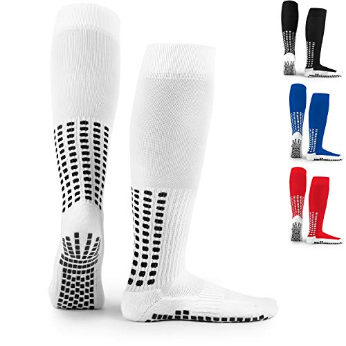 LUX Anti Slip Soccer Knee Socks,Non Slip Football/Basketball/Hockey Sports Grip Socks