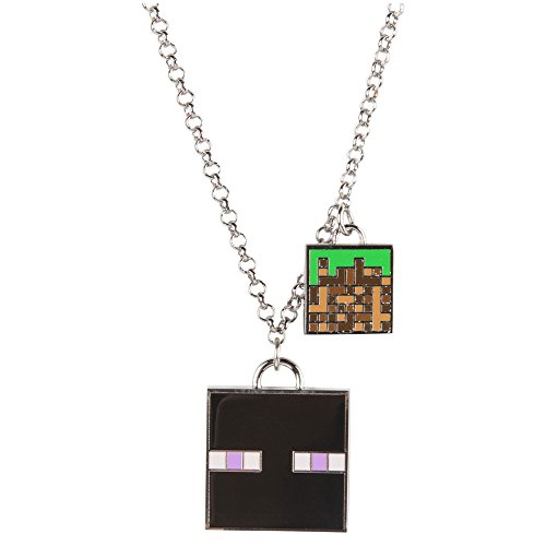 JINX Minecraft Enchanted Enderman Charm Necklace for Teen Girls and Women
