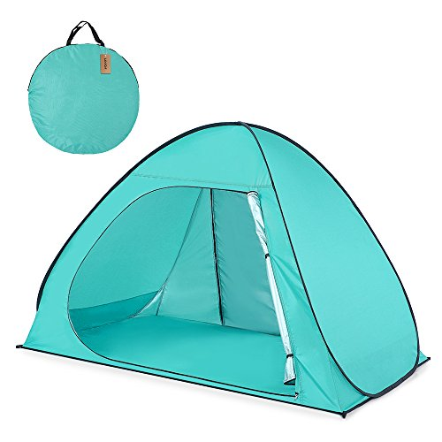 Blusea Automatic Pop Up Beach Tent Sun Shelter Cabana for 2-3 Person UPF50+ UV Protection Beach Shade