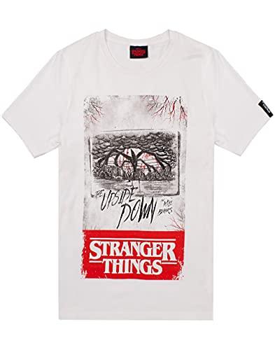 Stranger Things Camiseta de para Hombre al revs para Adultos Small
