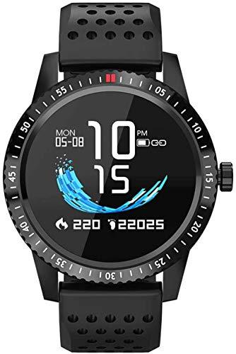 Pulsera inteligente GPS reloj inteligente mujeres cuidado ritmo cardíaco monitor de presión arterial recordatorio de mensaje IP67 impermeable fitness pulsera podómetro negro