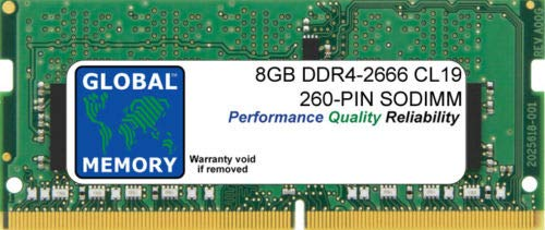 8GB DDR4 2666MHz PC4-21300 260-PIN SODIMM MEMORY RAM FOR LAPTOPS/NOTEBOOKS